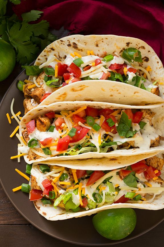 Grilled Chicken Tacos with Cilantro Lime Ranch - Cooking Classy