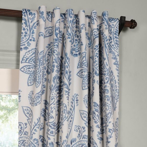 Create A Soft And Regal Window When You Hang These Tea Time China Blue  Blackout Curtains