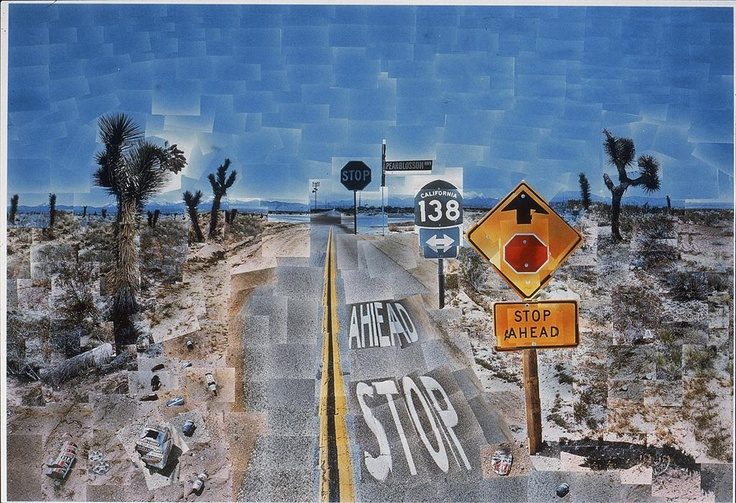 David Hockney: Pearblossom Highway #2 (1986) 5/7/14