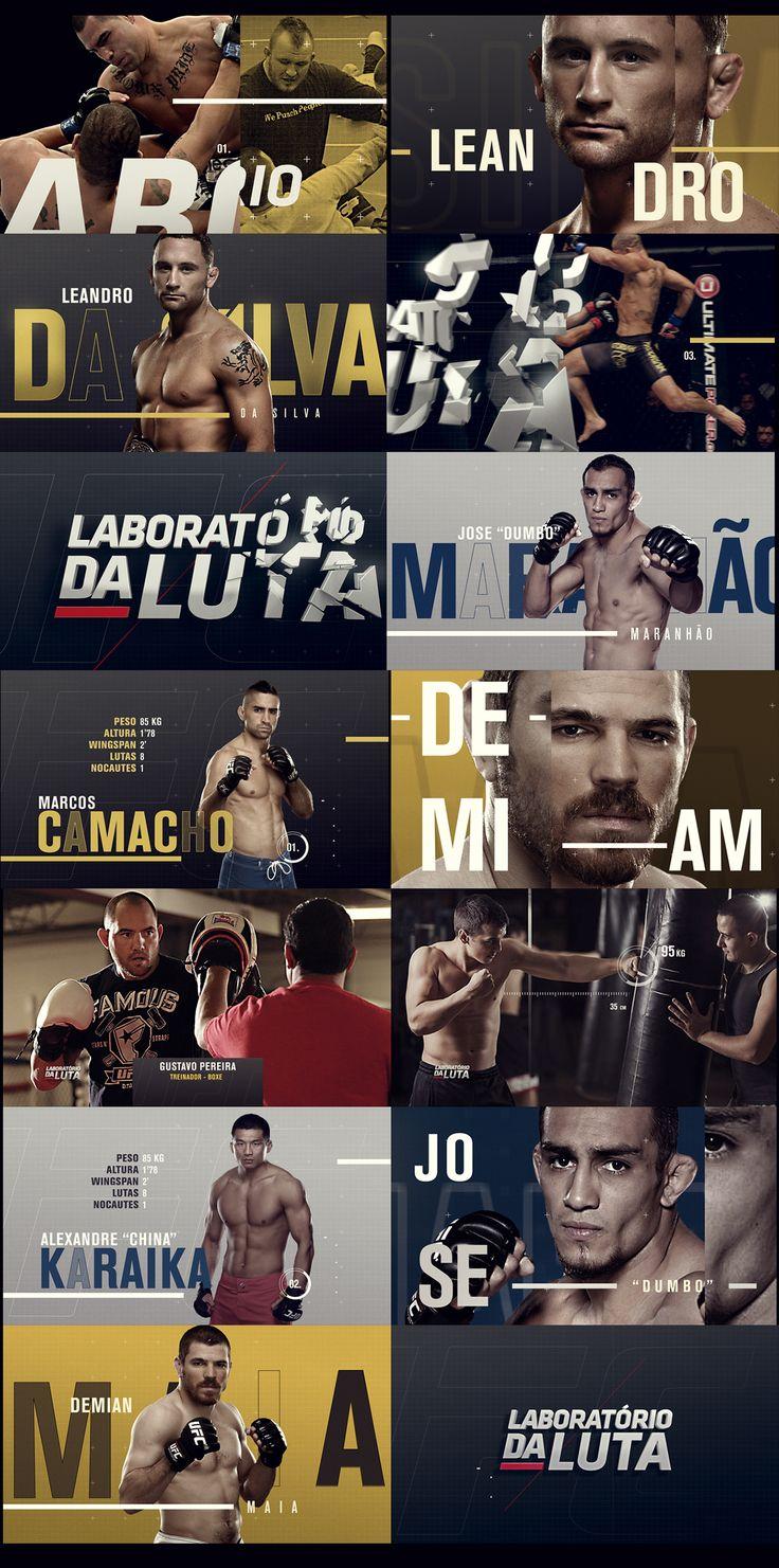 """sports graphics - mma design -broadcast graphics - Concept design for the """"laboratorio da luta"""" tv show in Brazil"""