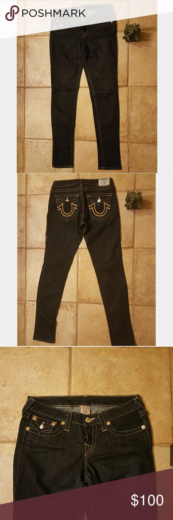 *WEEKEND SALE*Dark wash skinny true religion jeans Weekend sale, prices will be going back to normal on Minday June 19!dark wash jeans only worn once True Religion Jeans Skinny