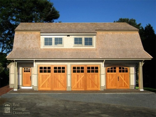 Recessed entry door recess entry door behind garage door give overhang and separation of for Exterior garage doors