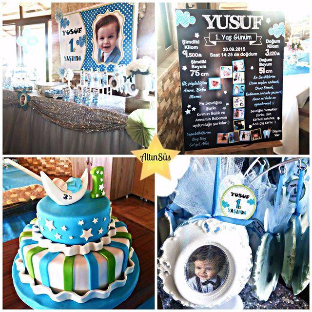 Mavi&Gökyüzü&Bulut&Yıldız Konsept Doğum Günü Parti