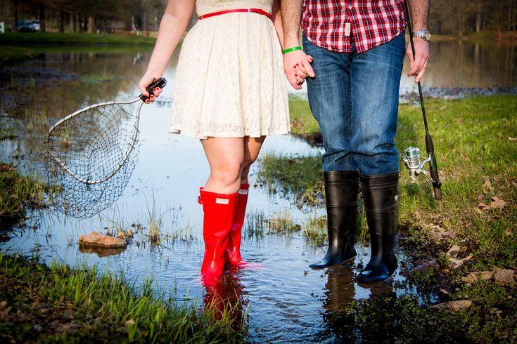Fishing engagement photos!
