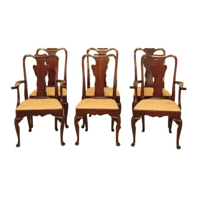 Statton Stratford Cherry Dining Room Chairs Set Of 6 Dining
