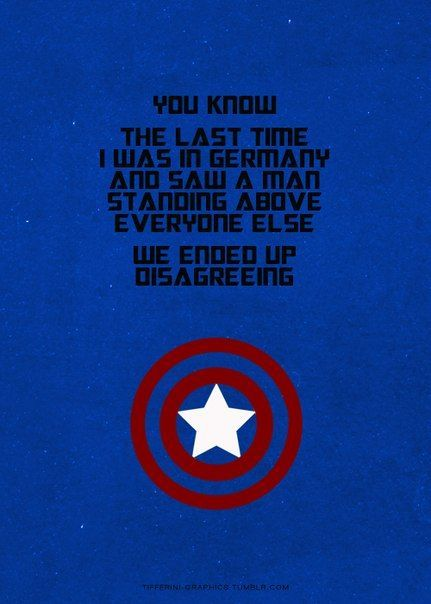 oh captain, my captain! captain america