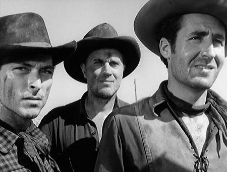 Lee Van Cleef, Robert J. Wilke, and Sheb Wooley.
