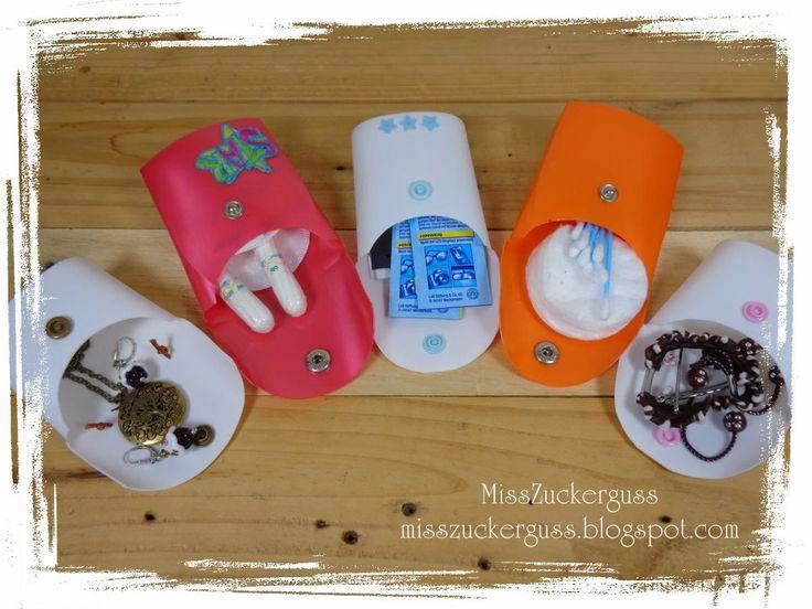 MissZuckerguss - Recycling & Upcycling für Kreative *nähen**basteln**werkeln*: *Anleitung* Täschchen aus Shampooflaschen basteln - Plastikflaschen recyceln