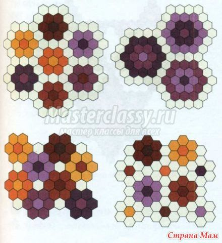 Примеры блоков из шестиугольников. - Лоскутное Шитьё - Страна Мам