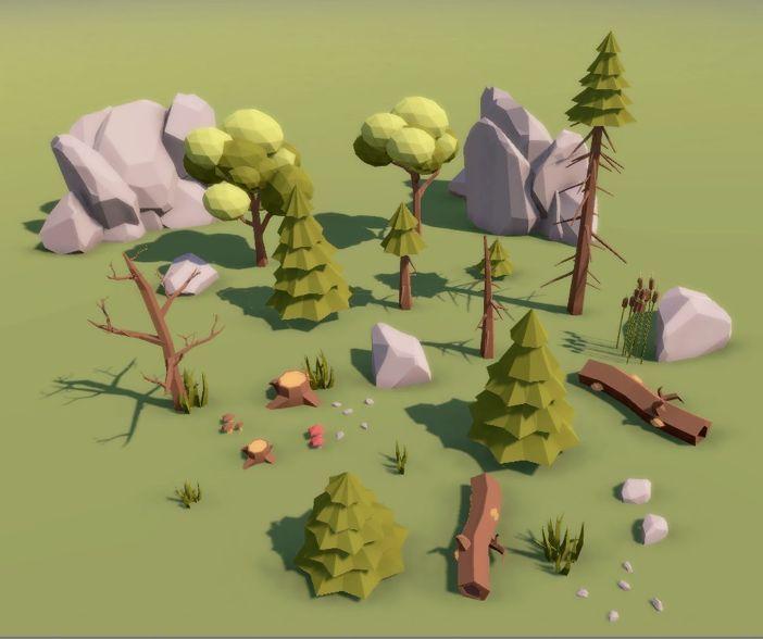Afbeeldingsresultaat voor low poly environment