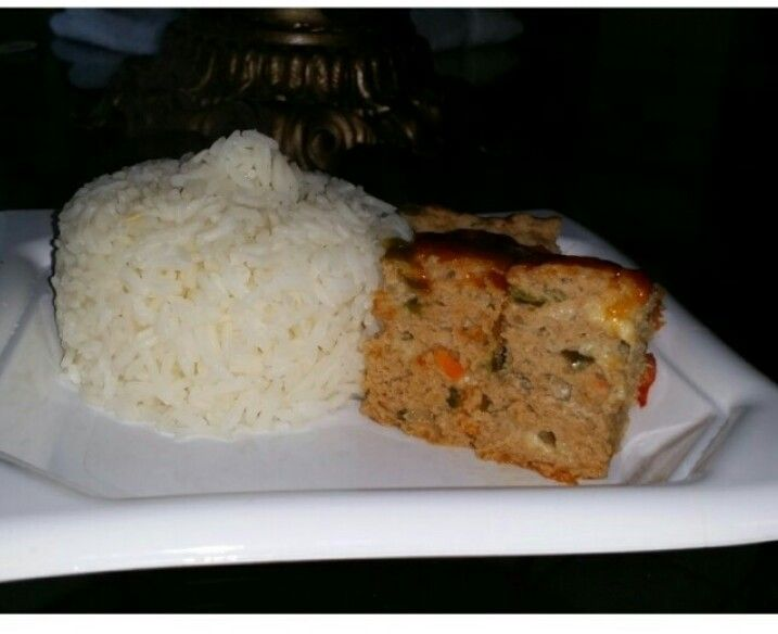 Turkey Meat Loaf and White Rice