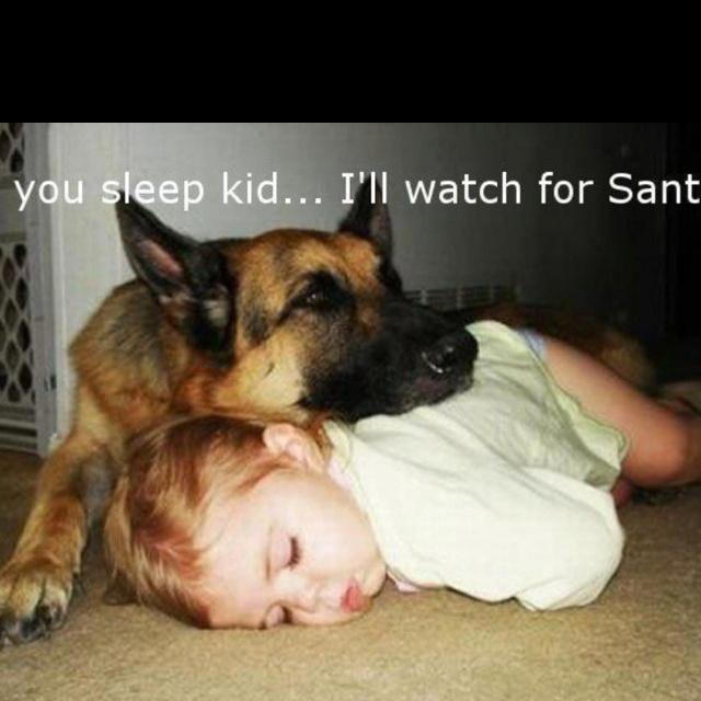 You sleep kid...I'll watch for Santa