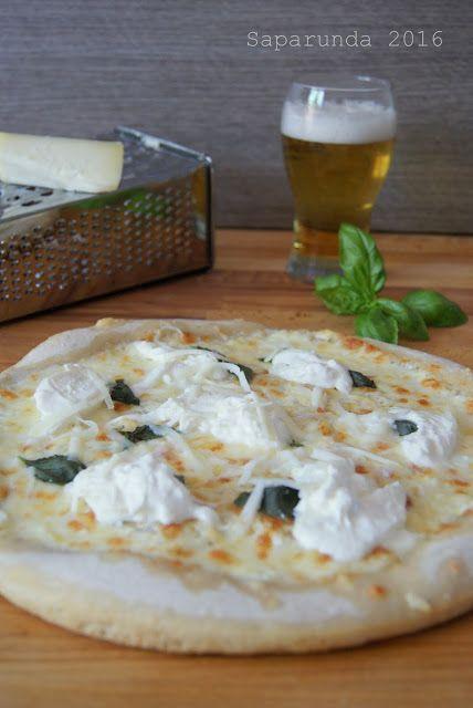 Pizza in teglia con pecorino Sardo dolce e burrata di Arianna