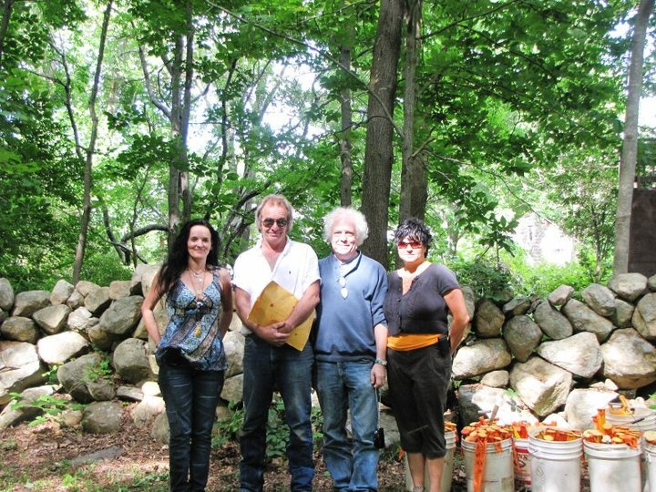 6/30/2010 Coni Dubois with Archeologist's Kevin McBride & Ken Feder & my cousin Veronica Hawkins at Pequot War Massacre Archaeology Site
