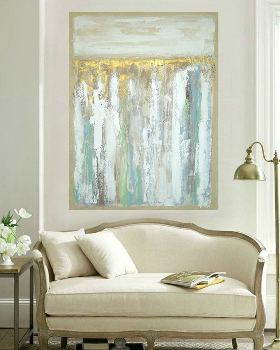 Art Large Painting Original Abstract Acrylic por OraBirenbaumArt
