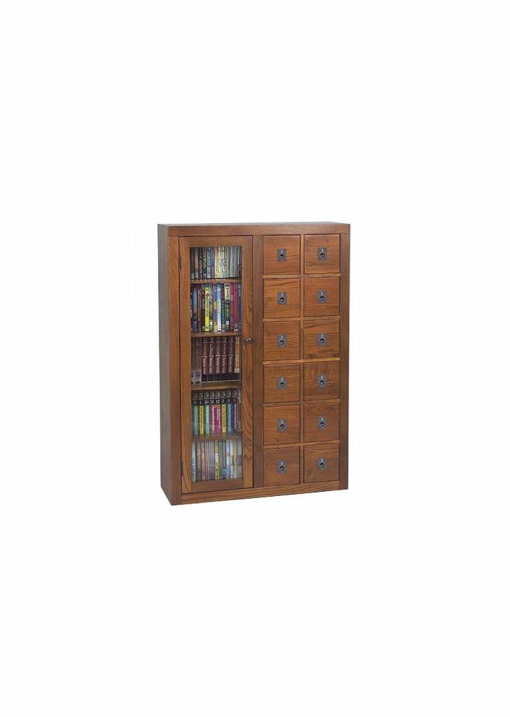 leslie dame library style 12 drawer multimedia cabinet. Black Bedroom Furniture Sets. Home Design Ideas