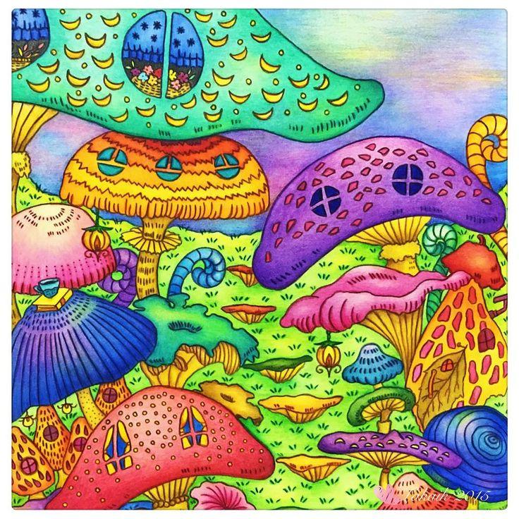 百菇齊放之浪漫國度 📕Romantic County 🎨Color Pencils (Faber Castel Polychromos, Colleen)  #coloringbookforadult #coloring #coloringmasterpiece #ilovecoloring #coloringforadult #coloringbook #beautifulcoloring #romanticcountry #romanticcountrycoloringbook #lakaik #eriy #著色畫 #著色趣 #著色 #大人の塗り絵 #コロリアージュ #ぬりえ #色鉛筆 #趣味