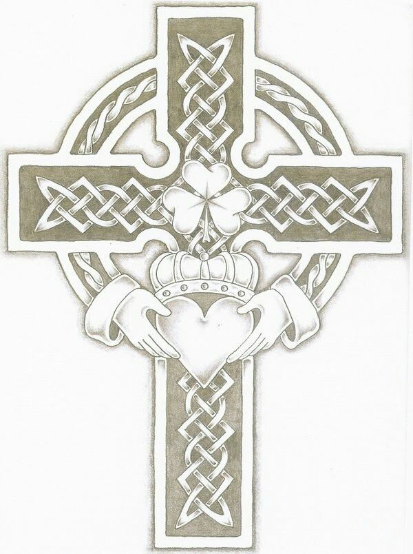 Image result for irish crosses with claddagh