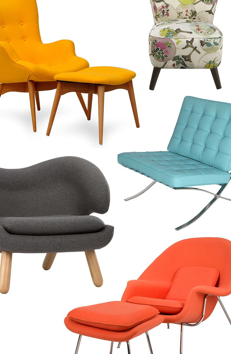 Mid-Century Style Lounge Chairs