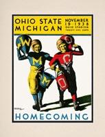 1938 Ohio State Buckeyes vs. Michigan Wolverines 10.5x14 Matted Historic Football Print