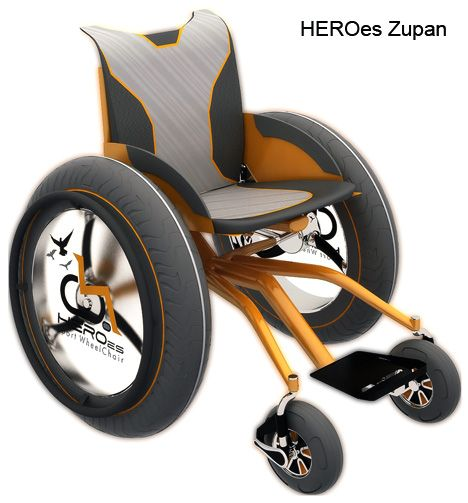 HEROes Series of Sport Wheelchairs by Mark Zupan and Jairo da Costa Jr (capable of traversing over land and sand with ease)