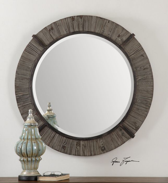 Uttermost Clint Murphy S Law Pinterest Mirror Round Wood And Mirrors