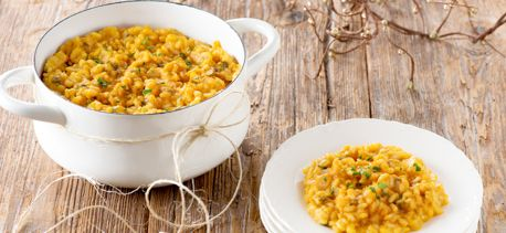Try this recipe for Pumpkin Oven Risotto with Sage from Campbell's & Pepperidge Farms Holiday Secrets Exposed.