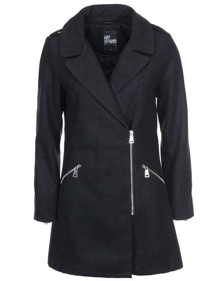 Haily´s - Černý kabát  Janine - 1