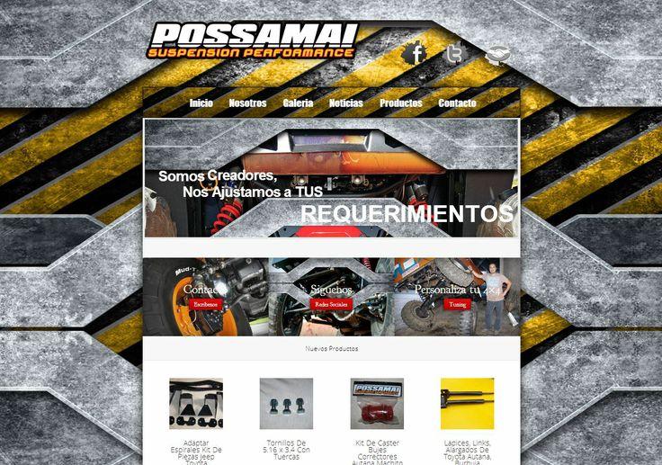 Pagina web para possamai suspension performance (Possamaisuspensionperformance.com) Diseño-Galeria-E-commerce. by : 4boot.com.ve