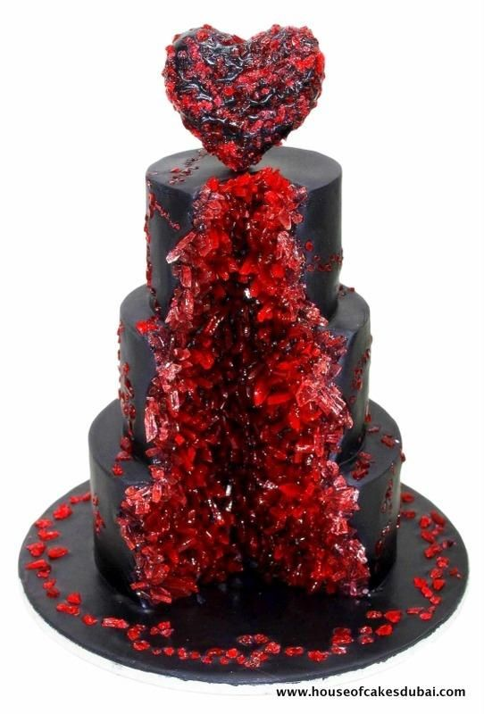 Bloody ruby geode cake - Cake by House of Cakes Dubai