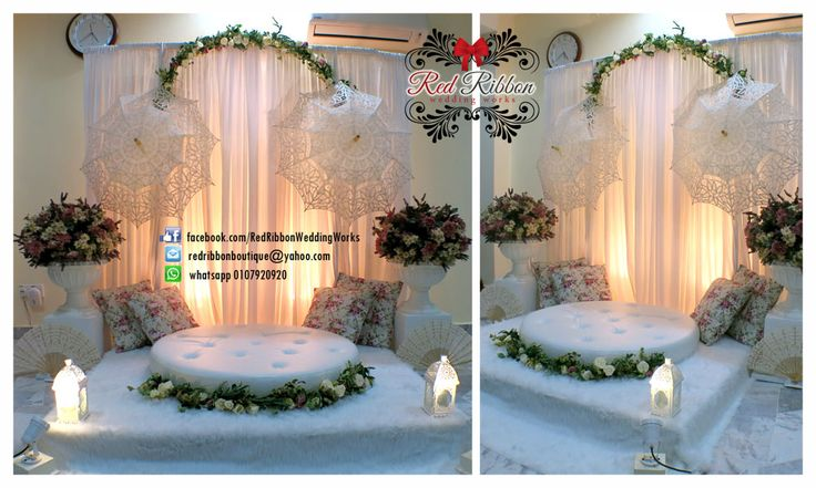 #mini #pelamin #dais #english #lace #vintage by Red Ribbon Wedding Works MY