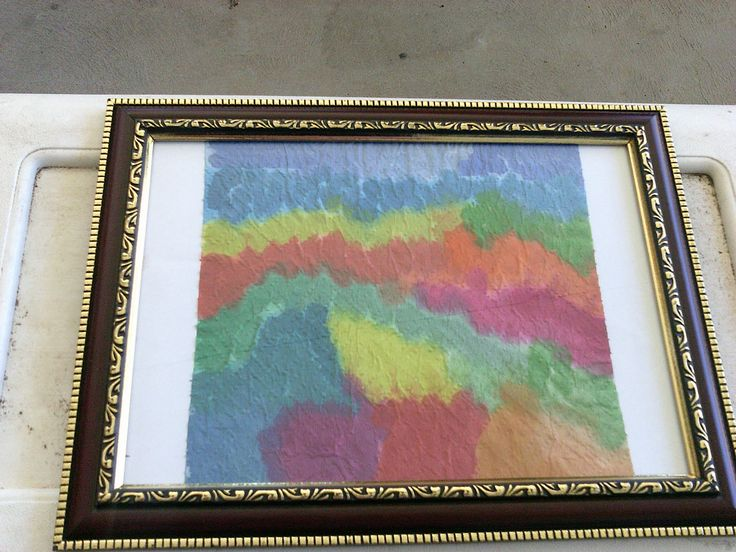 water colour print on papertowel including frame $15
