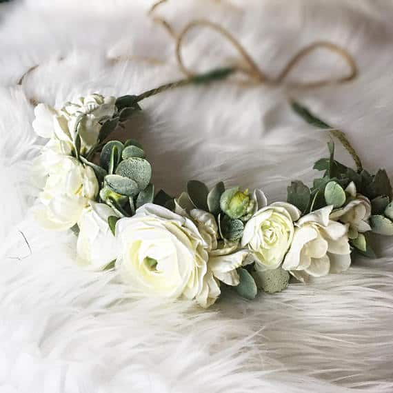 Flower Crowns And Floral Hair Accessories For Weddings Dress For The Wedding White Flower Crown Flower Crown Floral Accessories Hair