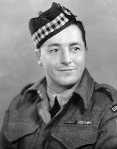 "Ernest ""Smokey"" Smith was with the Seaforth Highlands of Canada, and tasked with establishing a bridgehead over the Savio River when his company came under fire from German tanks. His comrade wounded, Smith stepped out into the line of fire, disabled a German tank with an anti-tank missile, fended off 10 German infantry with a Tommy gun, held his position against more infantry, and brought his comrades to safety and first aid. Smith was awarded the VC."