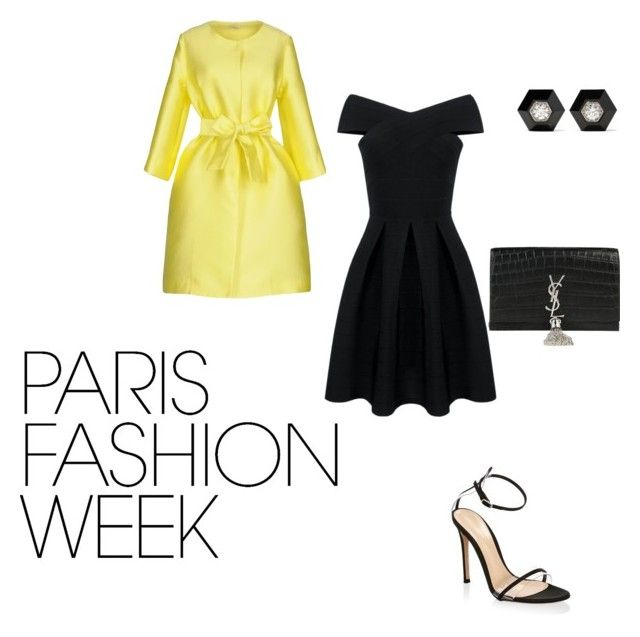 """""""Ready for runway"""" by ellam6320 on Polyvore featuring P.A.R.O.S.H., Gianvito Rossi, Yves Saint Laurent, Fred Leighton, parisfashionweek and Packandgo"""