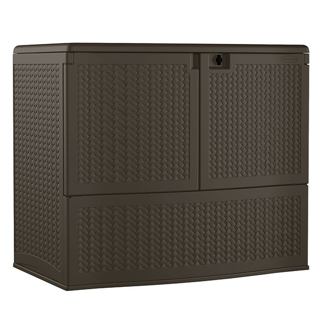 195 gallon Backyard Oasis® Storage and Entertaining Station - Extra Large Deck Boxes - Deck Boxes - Patio & Yard - Suncast® Corporation