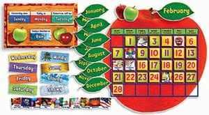 Apple Photo Calendar Bulletin Board Set Gr Pk-5