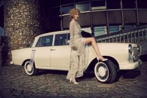 svatební studio Vera Marsalli   svatební limuzína Mercedes  wedding cars - retro  www.verama.cz