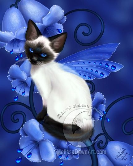 Birthstone Fairy Cats: Sapphire by Melissa Dawn