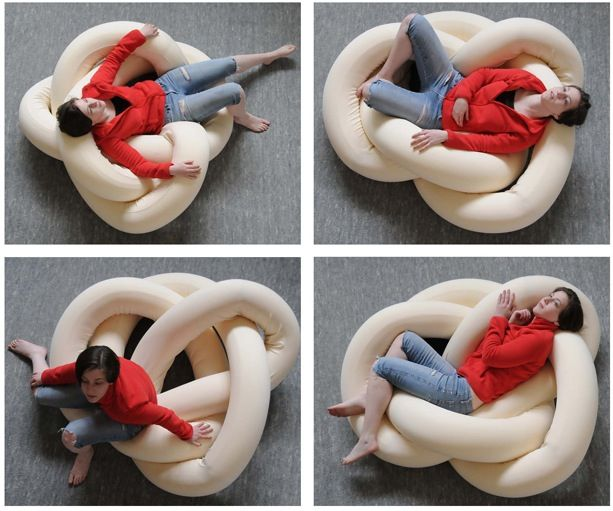 knot chair - wondering if I could figure out how to make this - the boys would love it.