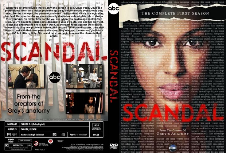 scandal tv show | Scandal: Season 1 (2012) | TV Series | Front DVD Cover | GetDVDCovers ...