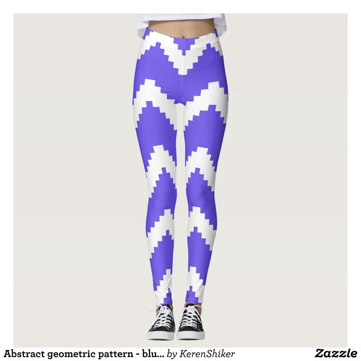 Abstract geometric pattern - blue and white. leggings : Beautiful #Yoga Pants - #Exercise Leggings and #Running Tights - Health and Training Inspiration - Clothing for #Fitspiration and #Fitspo - #Fitness and #Gym #Inspo - #Motivational #Workout Clothes - Style AND comfort can both be achieved in one perfect pair of unique and creative yoga leggings - workout and exercise pants - and running tights - Each pair of leggings is printed before being sewn allowing for fun designs on every square…