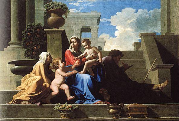 Saint Famille à l'escalier, 1648, Nicolas Poussin, Cleveland Museum of Art