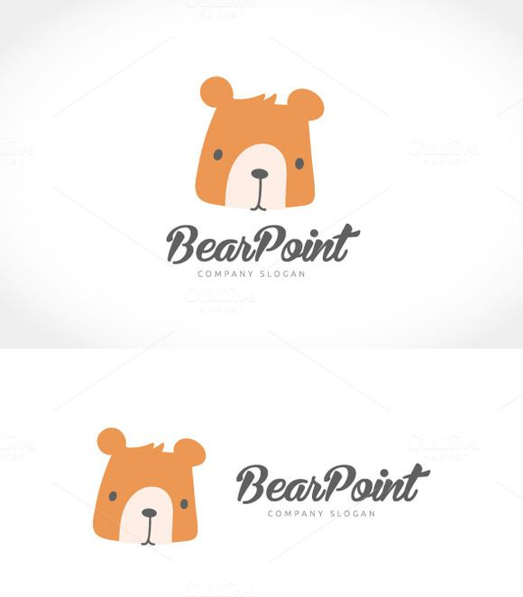 Bear Point logo by Super Pig Shop on @creativemarket