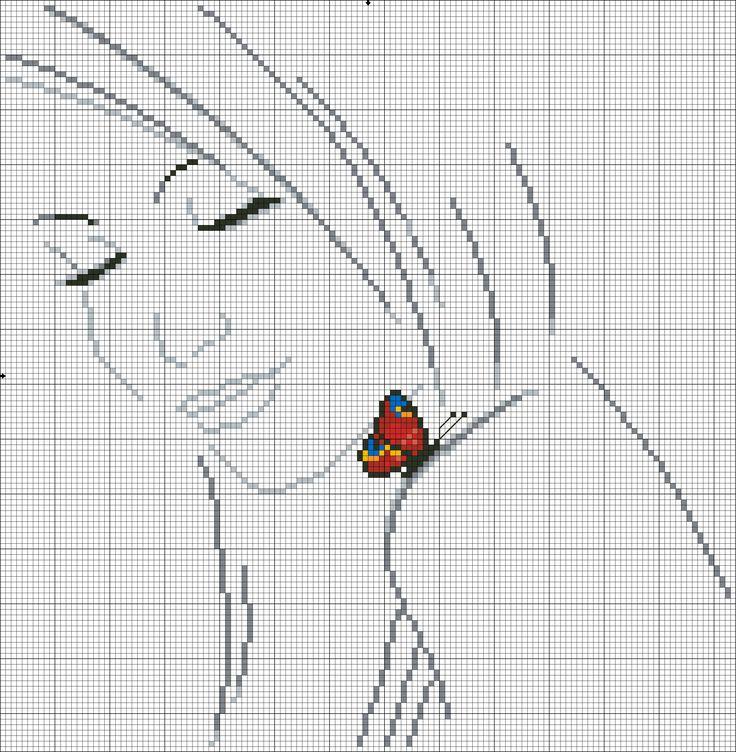 Donna con farfalla_3