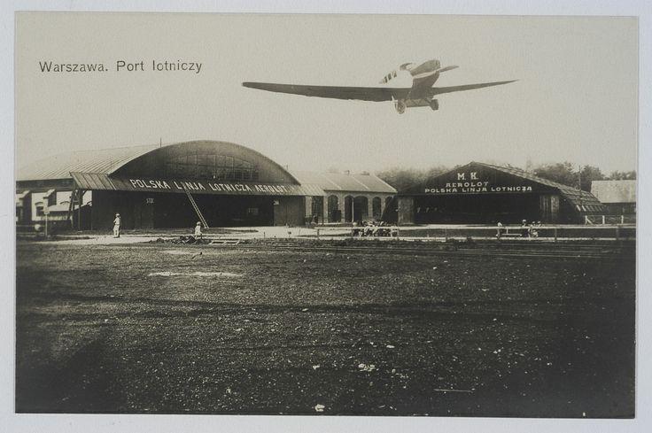 Pocztówka: Warszawa, port lotniczy (post 1925)