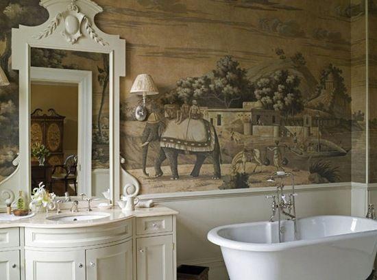 Luxury Hand painted wallpaper