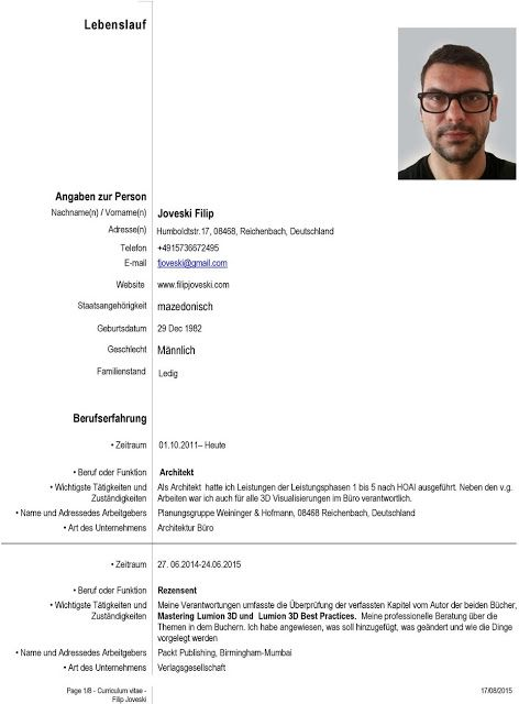 Architekt Lebenslauf 2019 Resume Templates Click Picture For