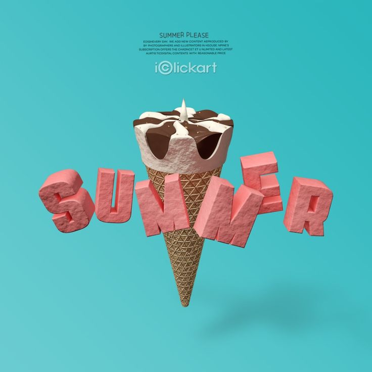 #summer #icecreams #beach #typography #digitalart #editimage #idea #stockimages #season #iclickart #npine