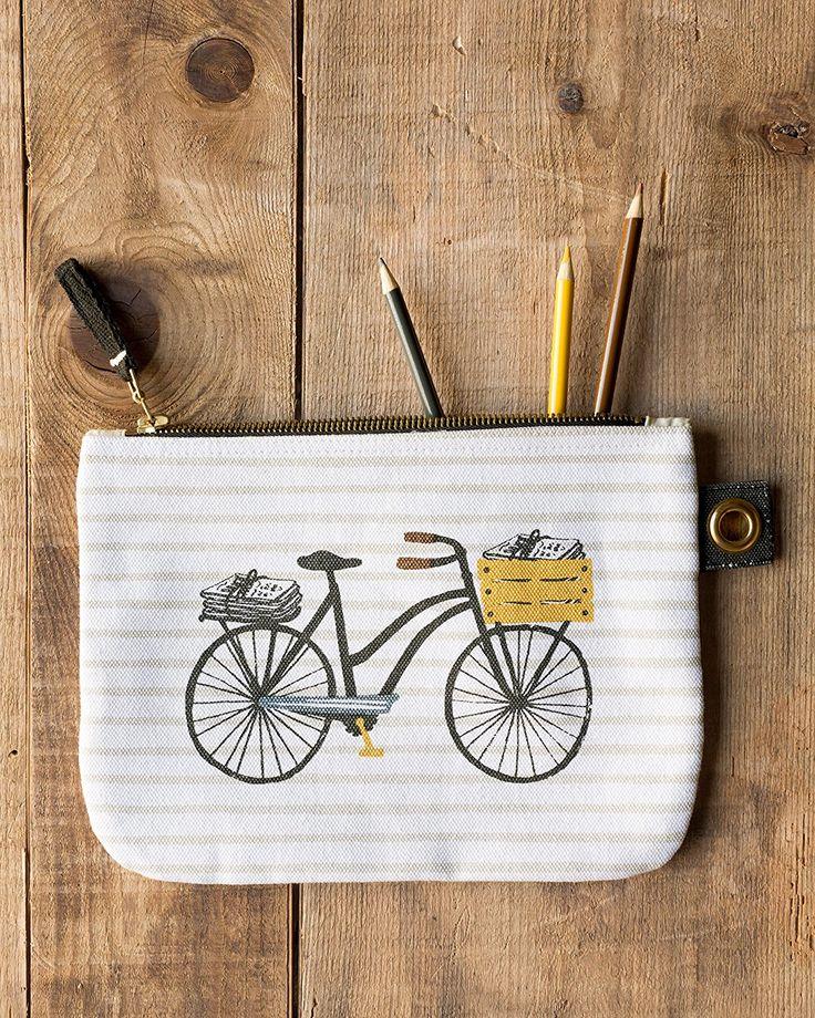 Amazon.com: Danica Studio Zipper Pouch, Large, Bicicletta: Home & Kitchen